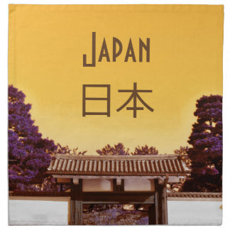 Tempeltor in Tokyo, Japan Serviette