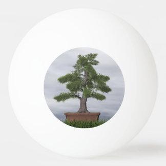 Tempelwacholderbusch-Baumbonsais - 3D übertragen Ping-Pong Ball
