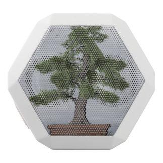 Tempelwacholderbusch-Baumbonsais - 3D übertragen Weiße Bluetooth Lautsprecher