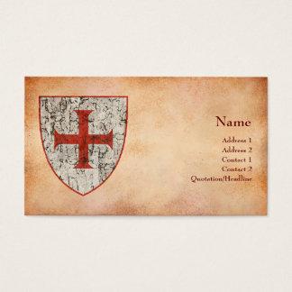 Templar Kreuz, beunruhigt Visitenkarte