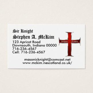 Templar QuerVisitenkarte Visitenkarte