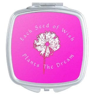 Template-Dandelion's_Seeds Pflanze ein Dream_HPDW Taschenspiegel