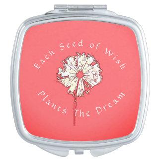 Template-Dandelion's_Seeds Pflanze ein Dream_PPDW Taschenspiegel