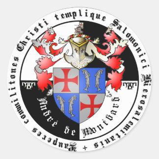 Templer Großmeister Andre de Montbard Aufkleber