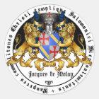 Templer Großmeister Jacques de Molay Aufkleber
