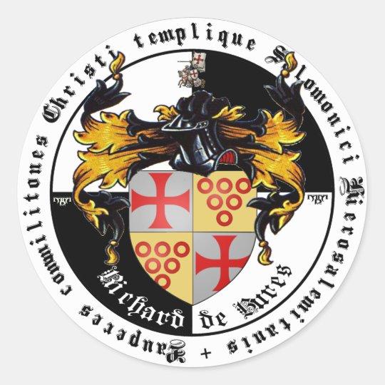 Templer Großmeister Richard de Bures Aufkleber