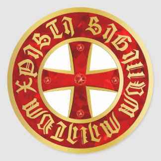 Templer Kreuz / Ritterkreuz / Crusaders Cross Runder Aufkleber