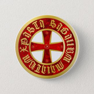 Templer Kreuz / Ritterkreuz / Crusaders Cross Runder Button 5,7 Cm