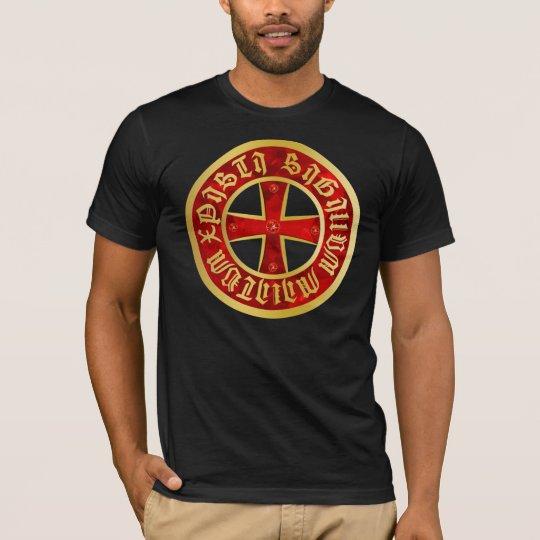 Templer Kreuz SIGILLVM MILITVM XPISTI T-Shirt