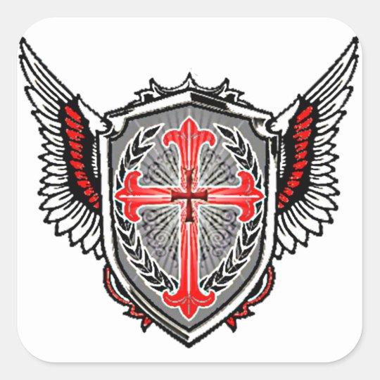 Templer-Logo-Aufkleber Quadratischer Aufkleber