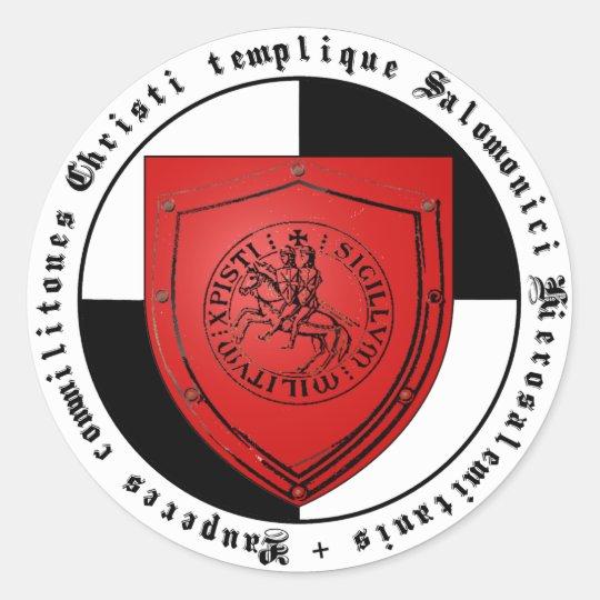 Templer Logo-Grafik Runder Aufkleber
