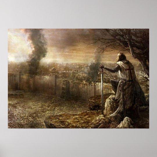 Templer vor Jeruzalem Poster
