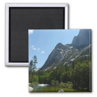 Tenaya Nebenfluss in Yosemite Nationalpark Quadratischer Magnet
