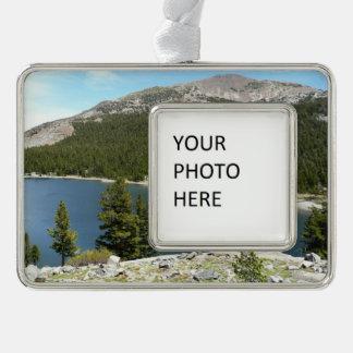 Tenaya See in Yosemite Nationalpark Rahmen-Ornament Silber