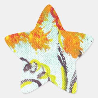 Tendrils Stern-Aufkleber