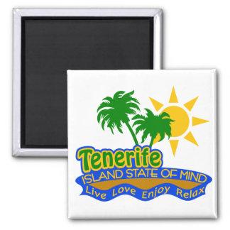 Teneriffa-Staat des Sinnesmagneten Quadratischer Magnet