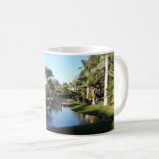 Teneriffa-Strom mit der Palme-Tasse Kaffeetasse