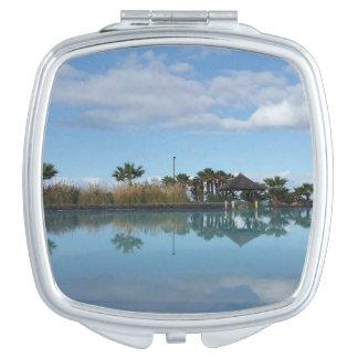 Teneriffapoolside-Ansicht-Vertrags-Spiegel Taschenspiegel