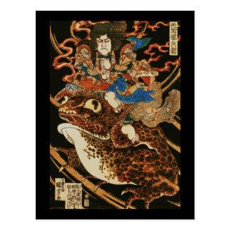 Tenjiku Tokubei, das riesige Kröte Kuniyoshi Postkarte