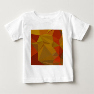 Tenne Tawny orange abstrakter niedriger Baby T-shirt