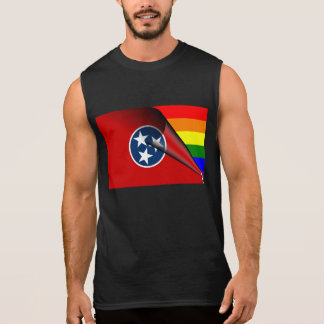 Tennessee-Flaggen-Gay Pride-Regenbogen Ärmelloses Shirt