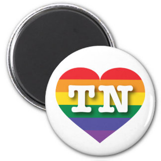 Tennessee-Gay Pride-Regenbogen-Herz - große Liebe Runder Magnet 5,1 Cm