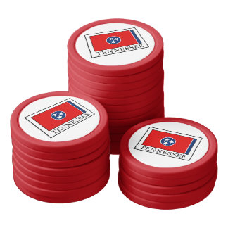 Tennessee Poker Chips Set