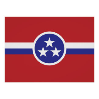 Tennessee-Staats-Flagge Poster