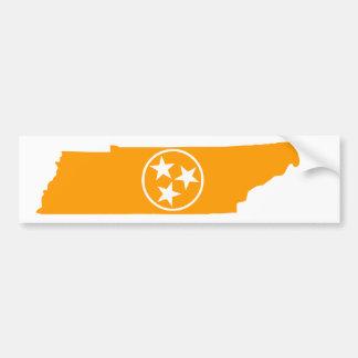 Tennessee-Staats-Orange Autoaufkleber