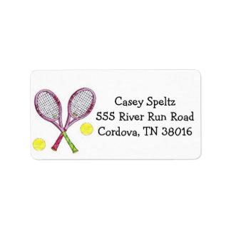 Tennis-Adressen-Etiketten Adressaufkleber