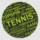 Tennis-Aufkleber Runder Aufkleber