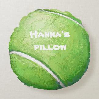 Tennis-Ball-personalisiertes Haustier-Bett-Kissen Rundes Kissen