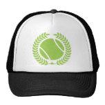 Tennis-Ball und Vintager Entwurf Tennis Teams Retromütze