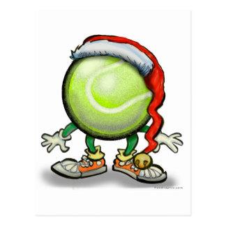 Tennis Chrsitmas Postkarte