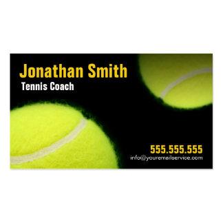 Tennis coachte für Tennis-Anweisung Visitenkarten