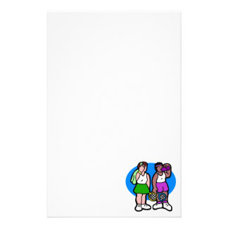Tennis-Damen Briefpapier