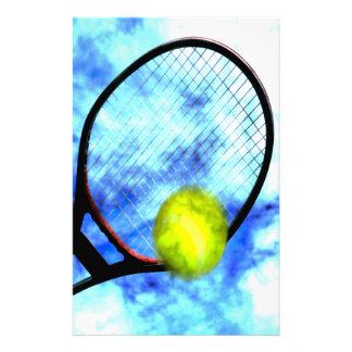 Tennis-den ganzen Tag Schmutz-Art Briefpapier