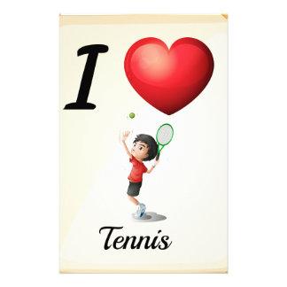 Tennis der Liebe I Briefpapier