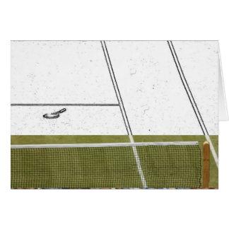 Tennis-Entwurf Karte