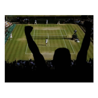 Tennis-Entwurf Postkarte