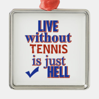 TENNIS-ENTWURF SILBERNES ORNAMENT