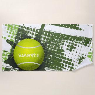 Tennis-Entwurfs-Badetuch Strandtuch