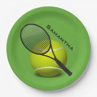 Tennis-Entwurfs-Papier-Party-Platte Pappteller