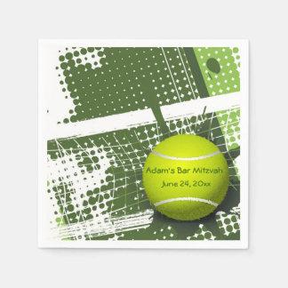 Tennis-Entwurfs-Papierservietten