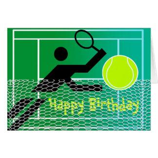 Tennis-Geburtstags-Karte Karte