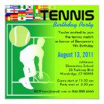 Tennis-Geburtstags-Party Einladung Quadratische 13,3 Cm Einladungskarte