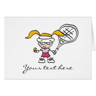 Tennis-Geschenke u. Karten mit niedlichem
