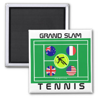 Tennis-Grand Slam-Magnet Quadratischer Magnet