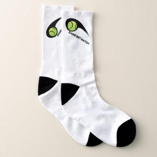 Tennis-große ganz vorbei - Druck-Socken Socken
