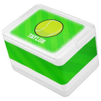 Tennis; Grüne Neonstreifen Kühlbox